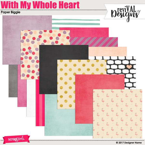 With My Whole Heart Paper Biggie by Revival Designs