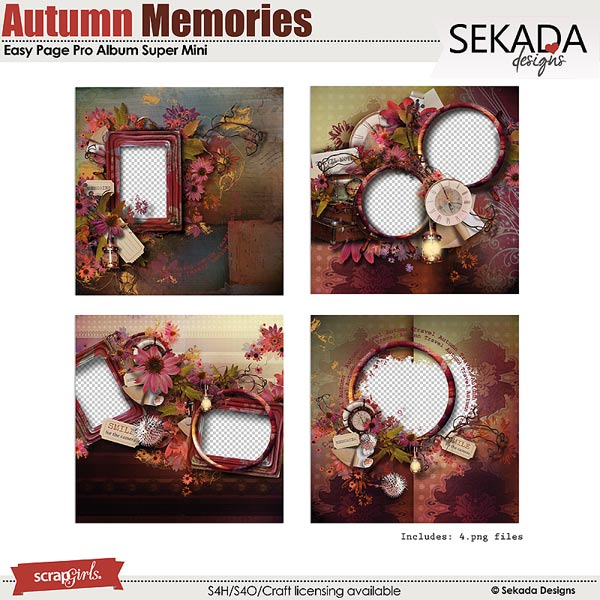 Easy Page Pro Album: Autumn Memories Super Mini