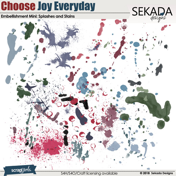 Choose Joy Every Day Embellishment Mini Splashes