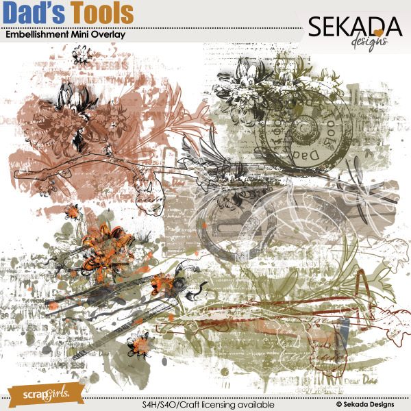 Dad's Tools Embellishment Mini Overlay