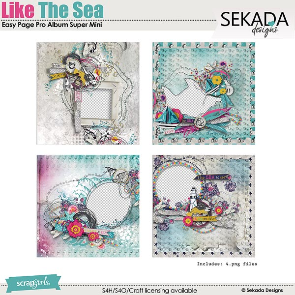 Easy Page Pro Album: Like The Sea Super Mini