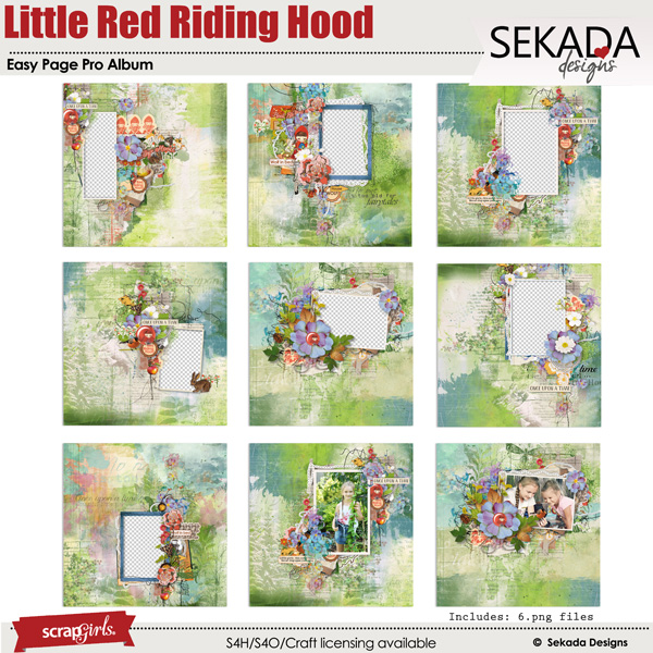 Easy Page Pro Album:: Little Red Riding Hood