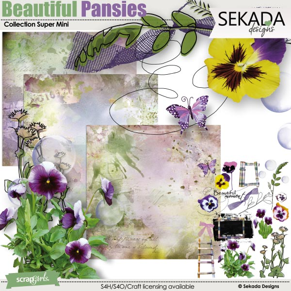 Beautiful Pansies Collection Super Mini