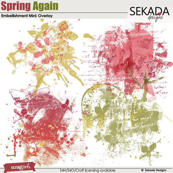 Spring Again Embellishment Mini Overlay