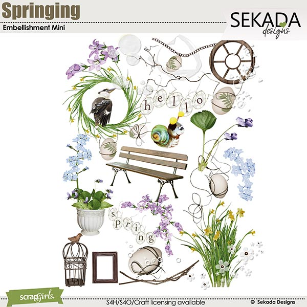 Springing Embellishment Mini