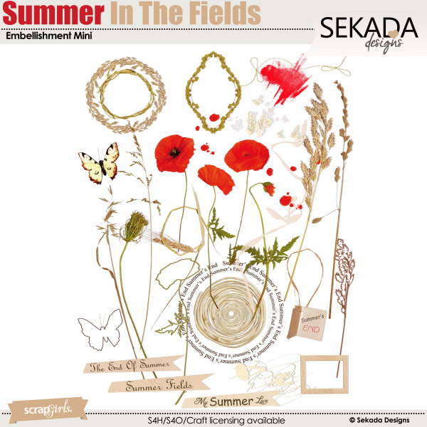 Summer In The Fields Embellishment Mini