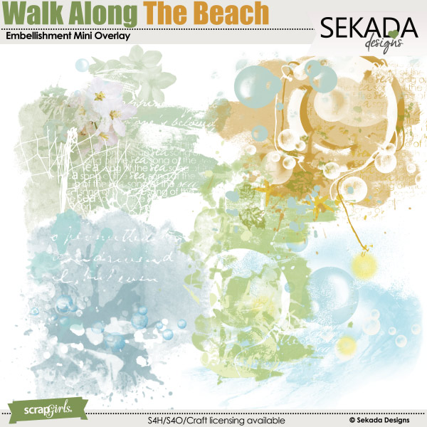 Walk Along The Beach Embellishment Mini Overlay
