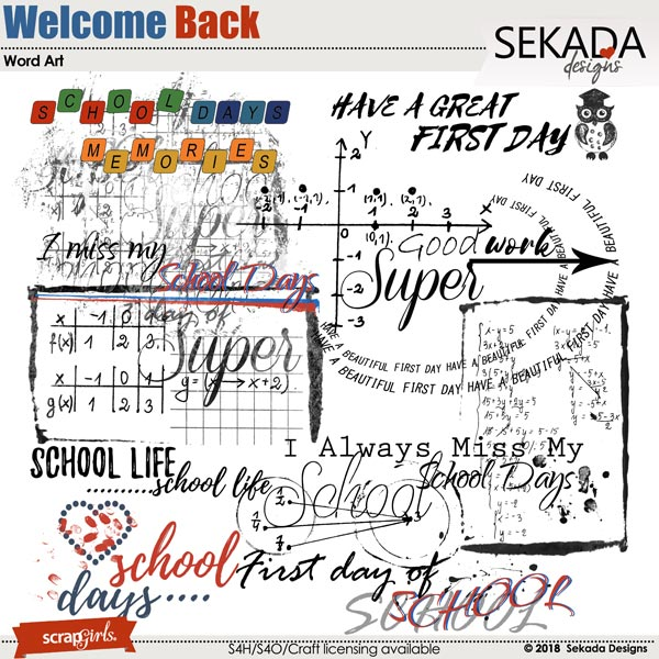Welcome Back Word Arts