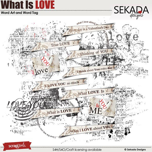 What Is Love Word Art