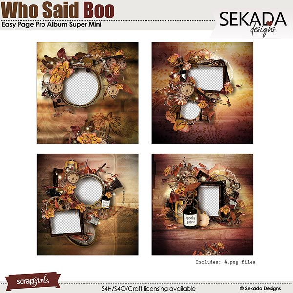 Easy Page Pro Album: Who Said Boo Super Mini