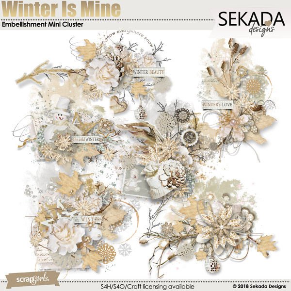 Winter Is Mine Embellishment Mini Cluster