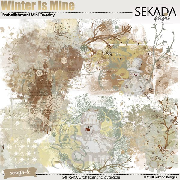 Winter Is Mine Embellishment Mini Overlay