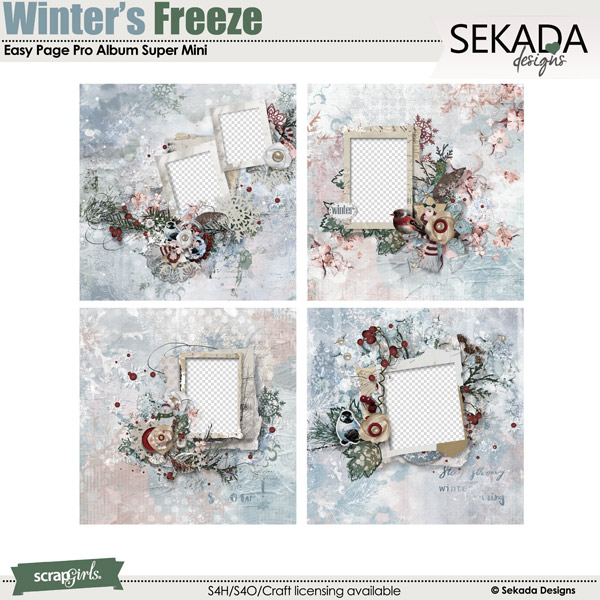 Easy Page Pro Album: Winters Freeze Super Mini