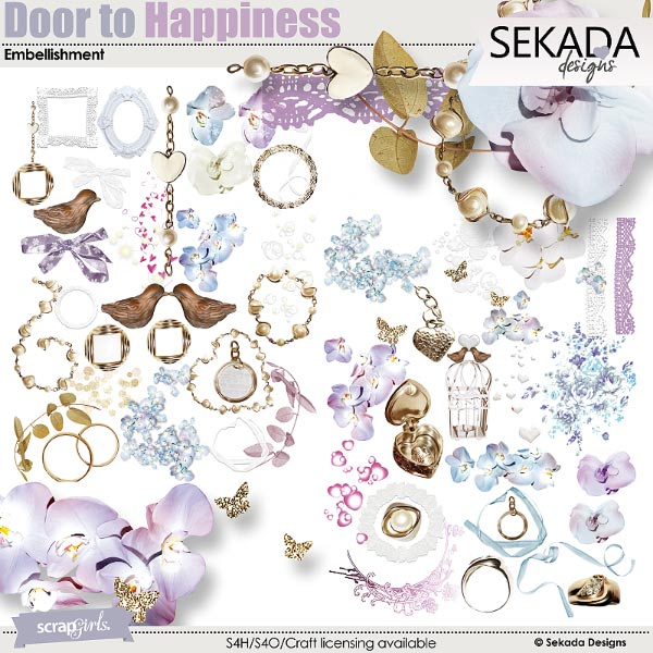 Door To Happiness Embellishment