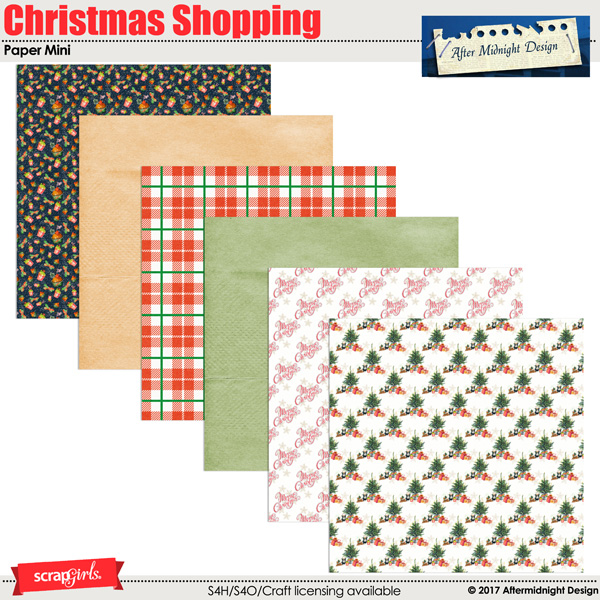 Christmas Shopping Paper Mini by Aftermidnight Design