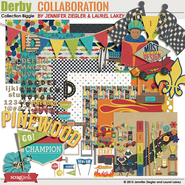Derby Collection Biggie, a collaboration by Jennifer Ziegler and Laurel Lakey