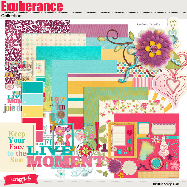 Scrap Girls Exuberance Collection