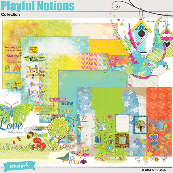 Scrap Girls Playful Notion Collection