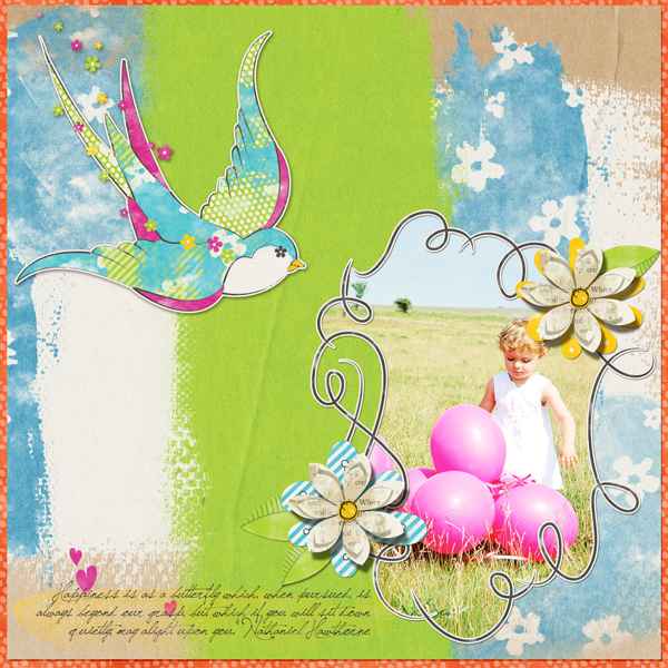 Layout using Scrap Girls Playful Notion Collection