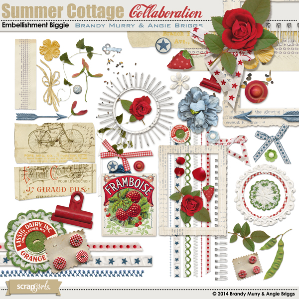 Summer Cottage Embellishment Biggie