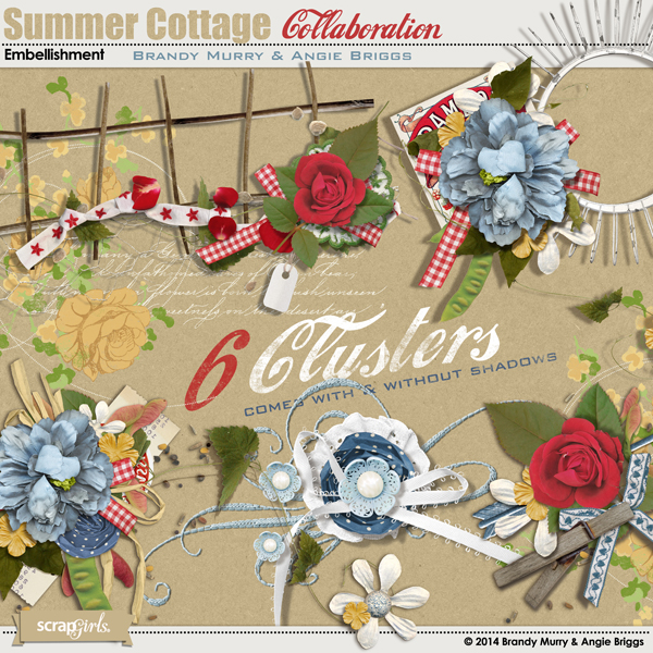 Summer Cottage Embellishment Cluster