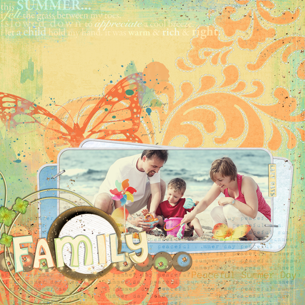 Layout by Laurel Lakey (supply list with links below)