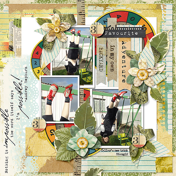 Layout using One, Two, Buckle My Shoe Kit by Jody West (Supplies Below)