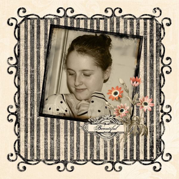 Layout by Syndee Nuckles using A Waltz To Remember Collection and Photo Transfer Frame Embellishments