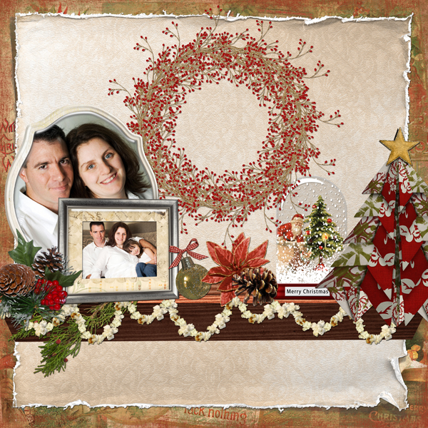 Digital scrapbooking layout by Angie Briggs (See supply list with links below)