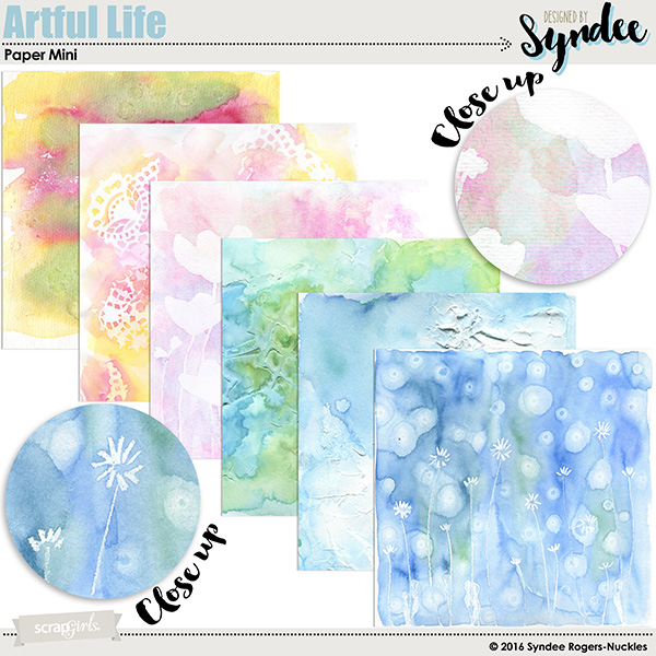 Artful Life digital background papers