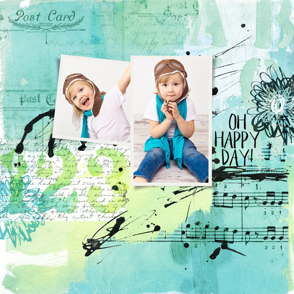 Layout created using Art Journal 2 Paper Templates