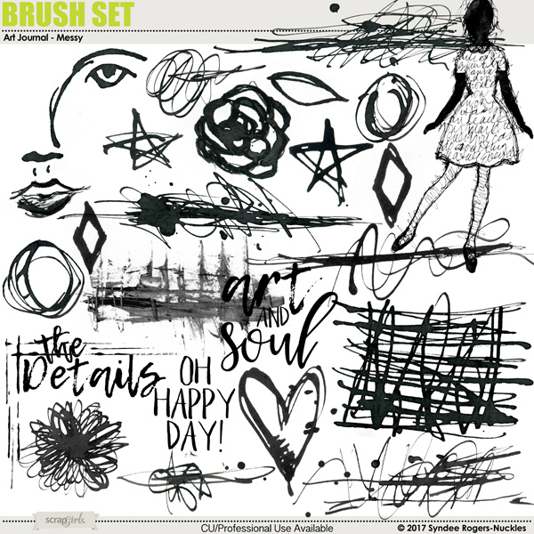 Art Journal Messy Brush Set