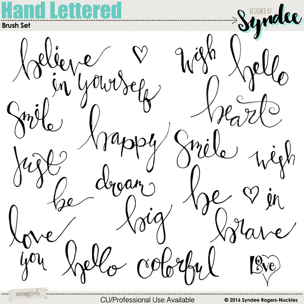 Hand Lettered Digital Brush Set