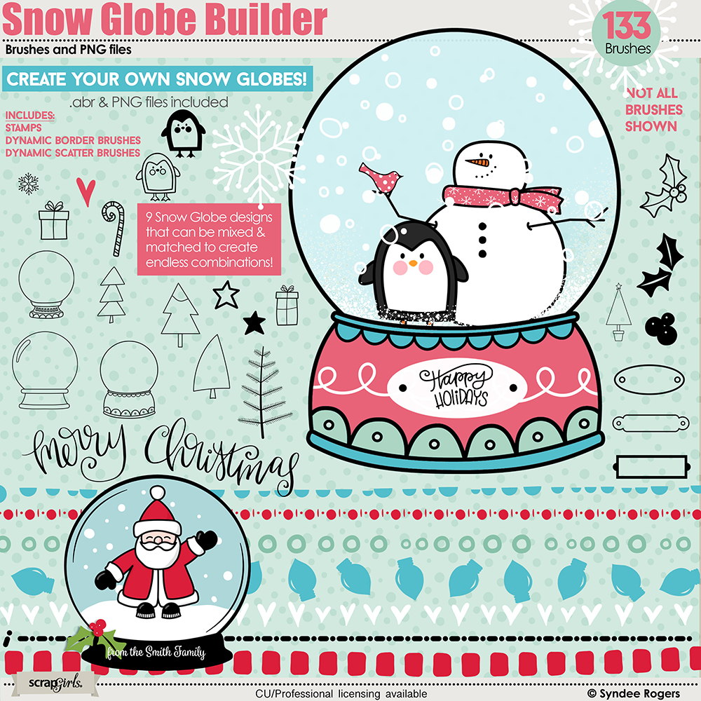Snow Globe Builder Brushes and PNGs