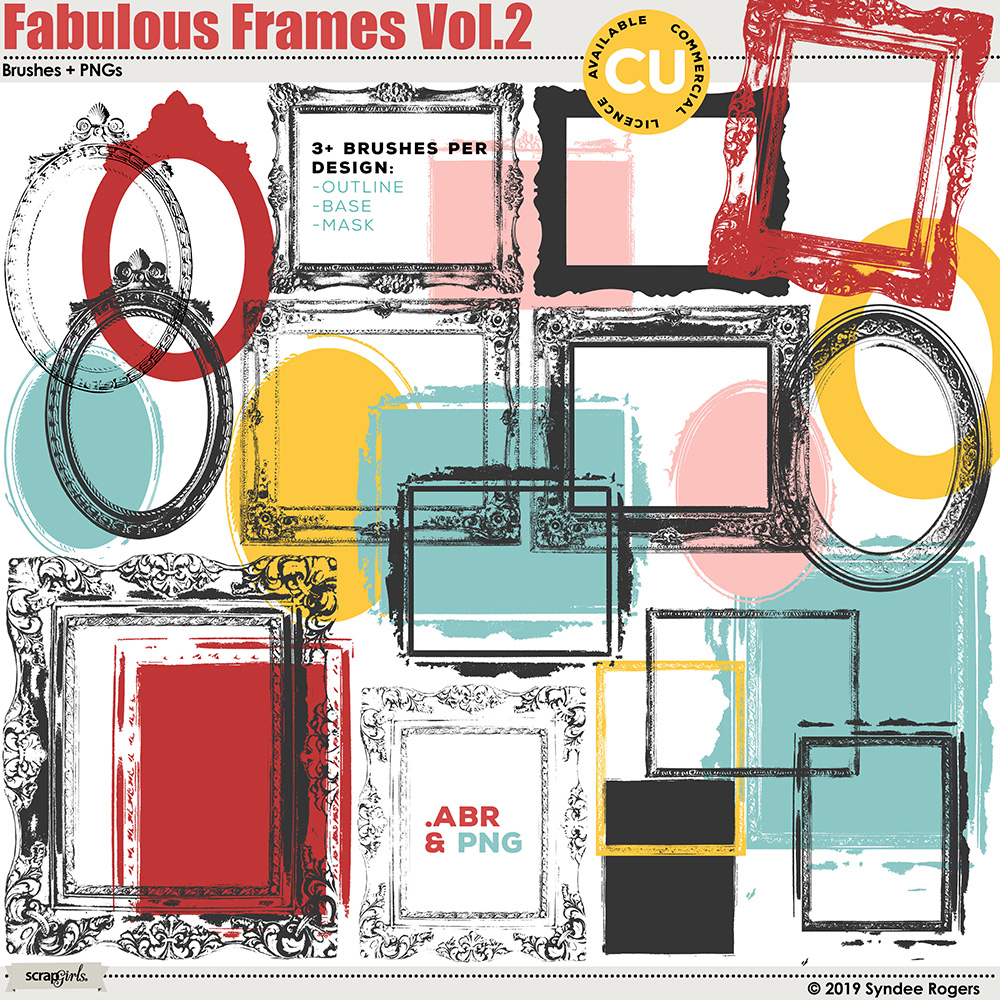 Fabulous Frames Vol. 2 Digital Brushes