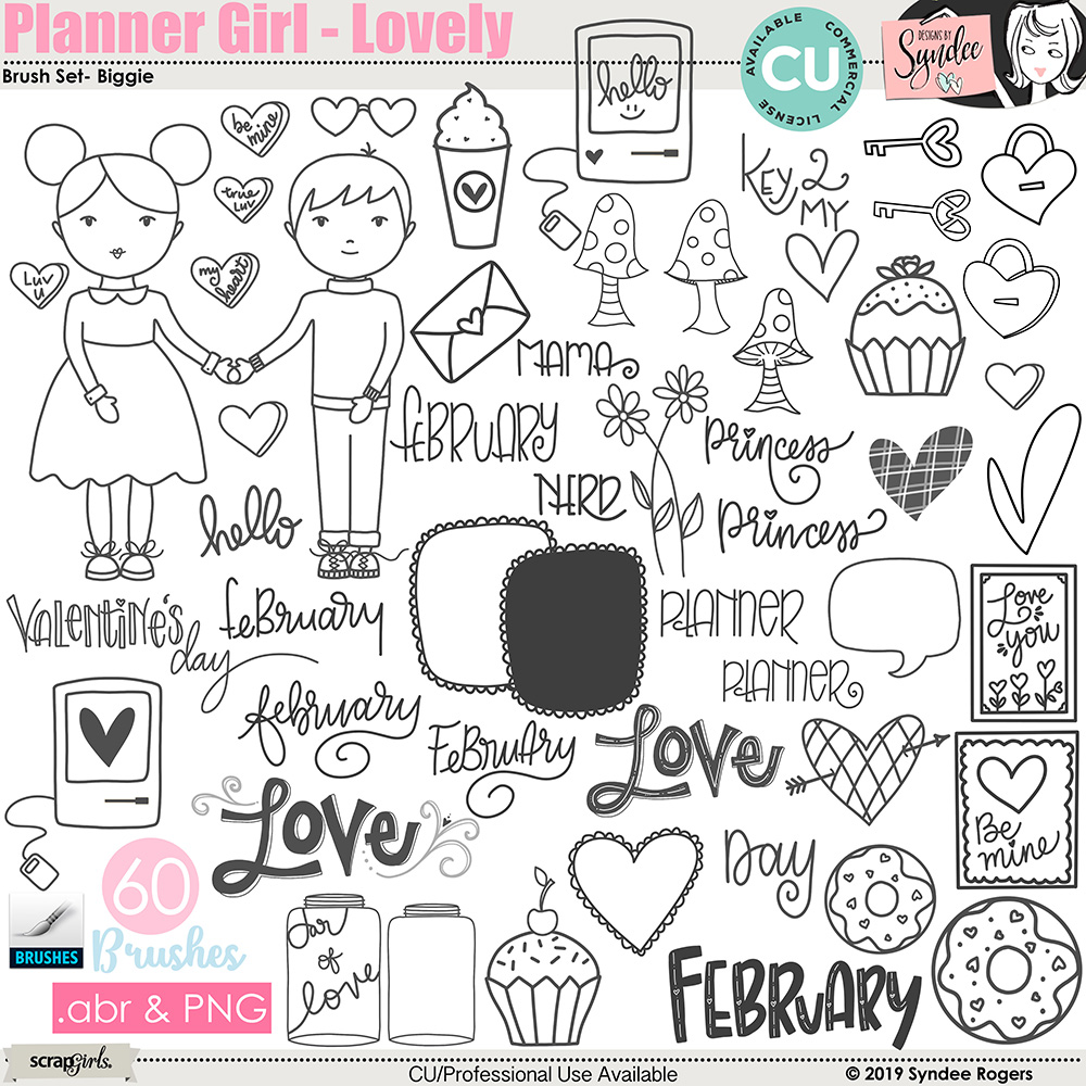 Planner Girl - Lovely Brush set