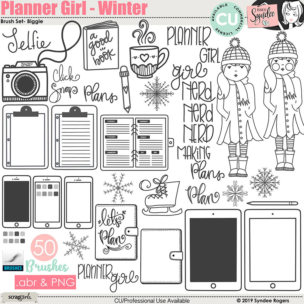 Planner Girl - Winter Brush Set