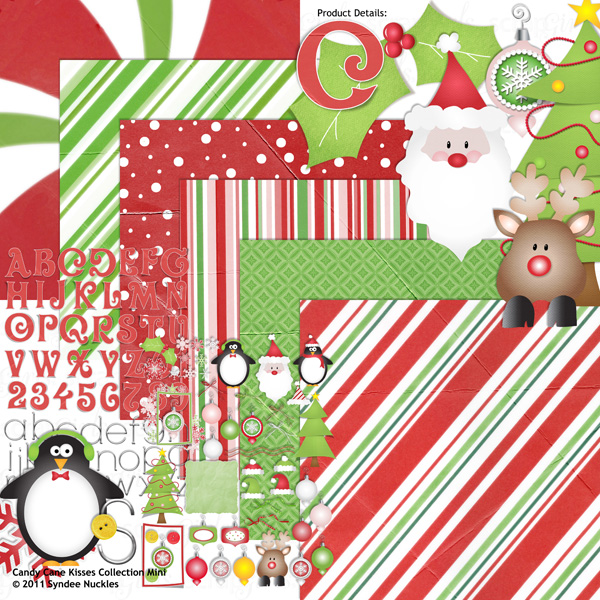 Candy Cane Kisses Collection Mini