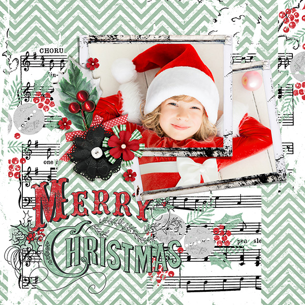 Chalkboard Christmas layout by Syndee (See product list below)