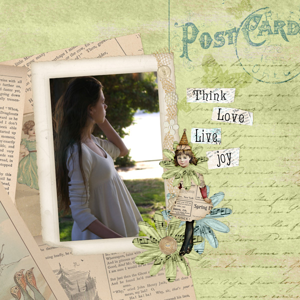 Layout by Syndee Nuckles using Collage Art Collection Biggie and Hoot and Annie Collection Mini