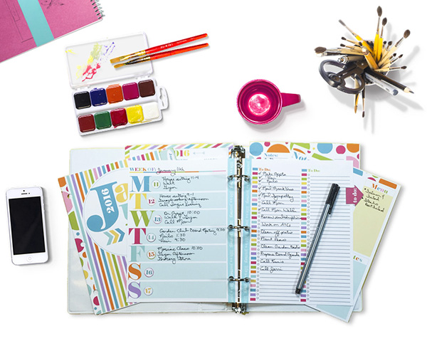 Printed Color Your World Planner