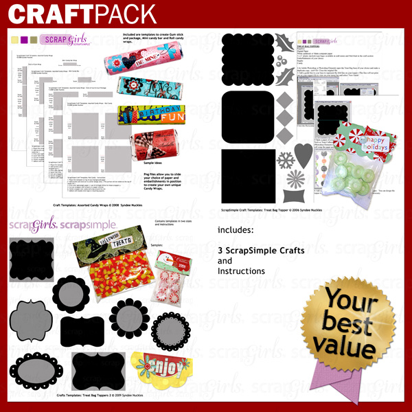 Craft Pack: Treat Toppers and Candy Wraps