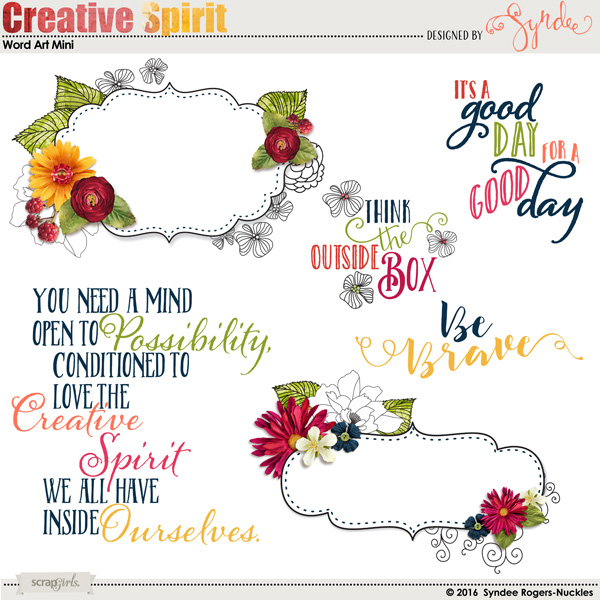 Creative Spirit Word Art Mini