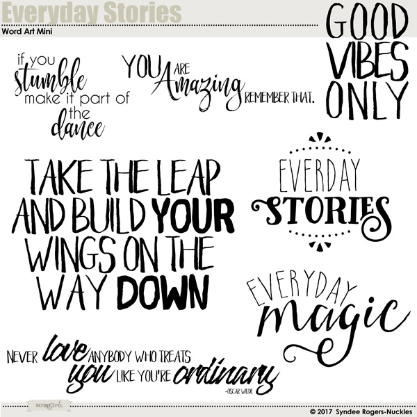 Everyday Stories Word Art Mini