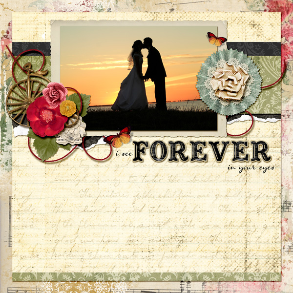 Digital scrapbook layout by Angie Briggs (See below for details)