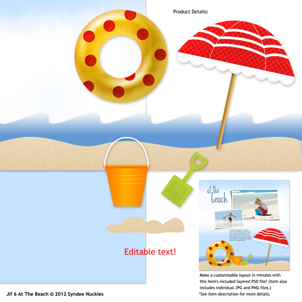 JIF 6: 12x12 A Day at the Beach