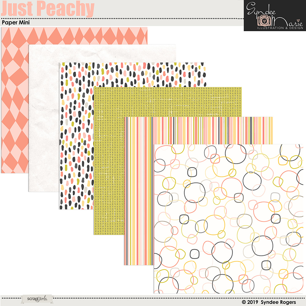 Just Peachy digital paper mini