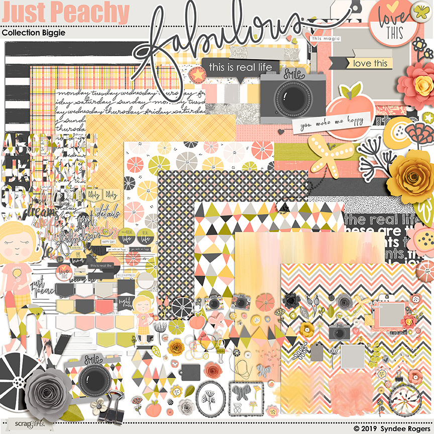 Just Peachy digital kit