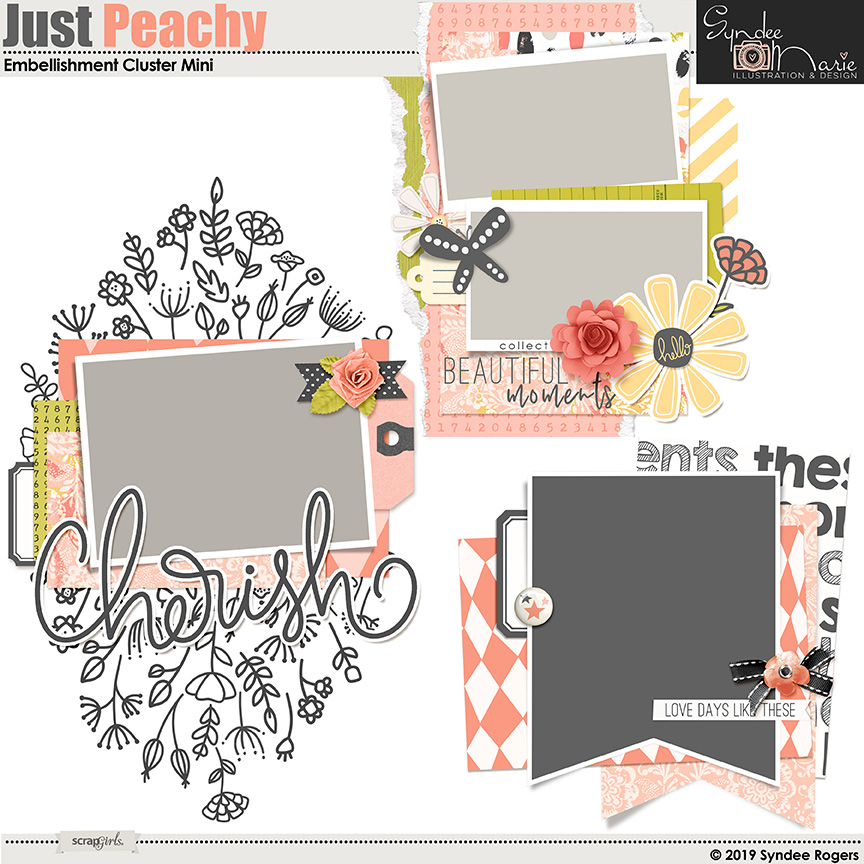 Just Peachy Embellishment mini