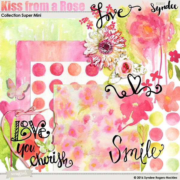 Kiss from a Rose digital kit